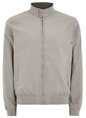 Topman Mens Grey Gray Nylon Harrington Jacket
