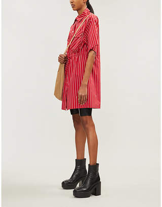 McQ Striped cotton dress