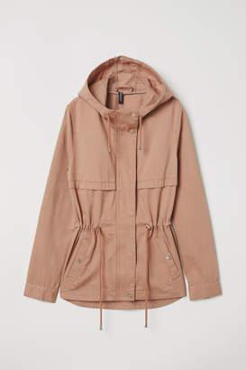 H&M Short Cotton Parka - Pink