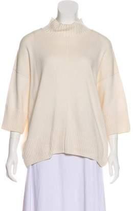 eskandar Mock Neck Short Sleeve Sweater