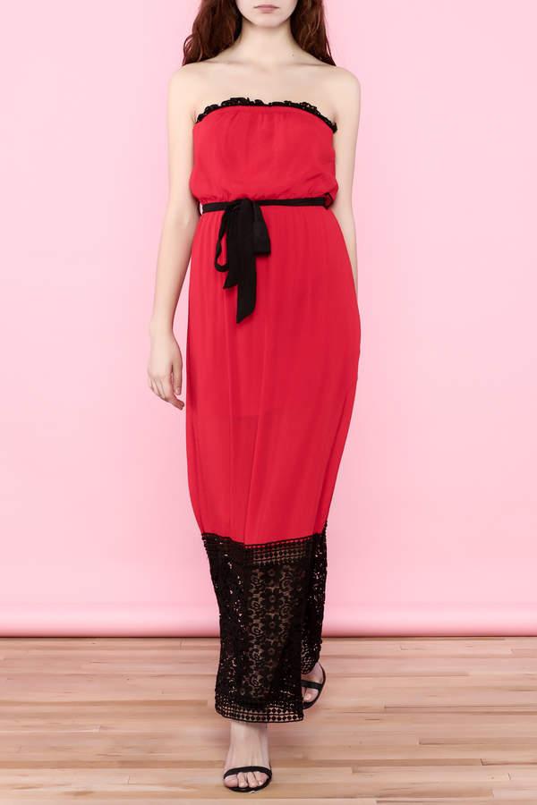 Umgee USA Red Lace Tube Dress