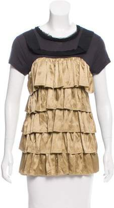 Lanvin Ruffled Short Sleeve Top