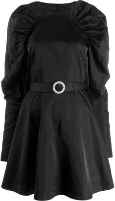 Rotate belted waist dress