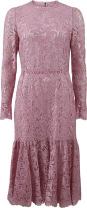 Dolce & Gabbana Lace Flounce Dress