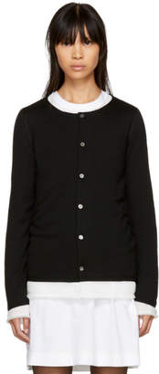 Comme des Garcons Black Layered Cardigan