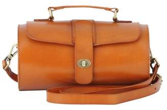 Most Wanted Design by Carlos Souza Audrey West East Cylindrical Leather Bag