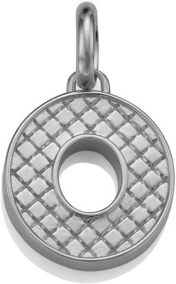 Monica Vinader Sterling Silver Quilted Capital O Pendant