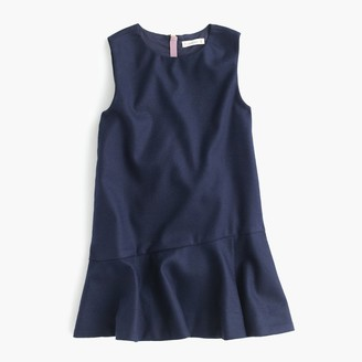Girls' flutter-hem flannel dress $78 thestylecure.com