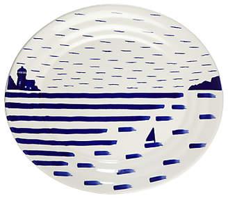 John Lewis Harbour Serving Platter, White/Blue, L36cm