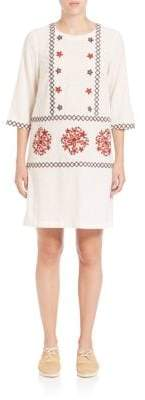 Suno Embroidered Shift Dress