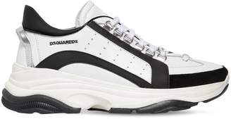 DSQUARED2 551 Bumpy Leather & Suede Sneakers