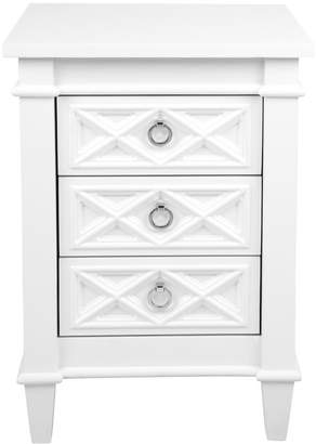 Cafe Lighting Plantation Bedside Table White Small