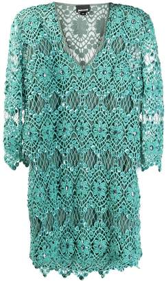 Just Cavalli embellished crochet shift dress