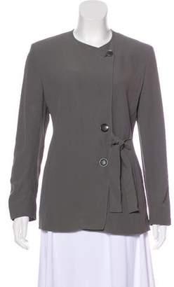 Max Mara Collarless Crepe Jacket
