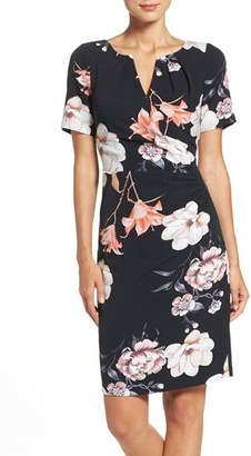 Women's Adrianna Papell Pleated Floral Sheath Dress $140 thestylecure.com