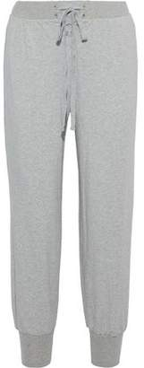 L'Agence Kosmo Lace-Up French Cotton-Blend Terry Track Pants
