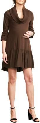 Maternal America Cowl Neck Maternity Dress