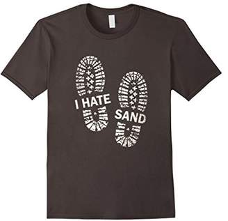 Funny I Hate Sand With Boot Print T-Shirt