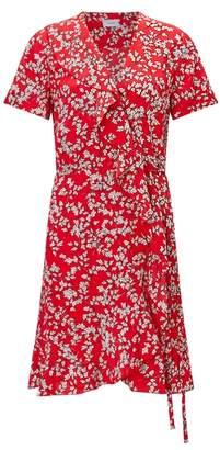 Jigsaw Lime Leaf Silk Wrap Dress