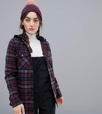 Volcom hooded flannel snowboard jacket