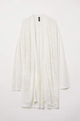 H&M Fine-knit Cardigan - White