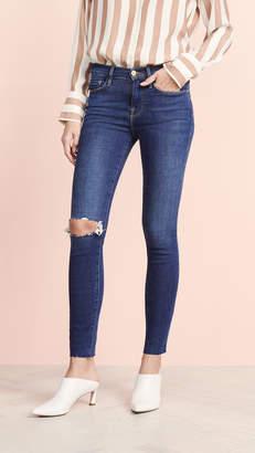 Frame Le Skinny de Jeanne Raw Jeans