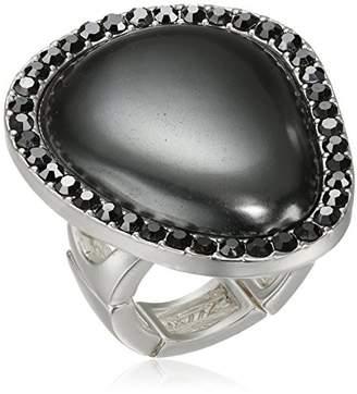 T Tahari Grey Hematite Ring