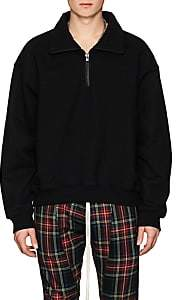 Fear Of God Men's Cotton Terry Quarter-Zip Sweatshirt - Black