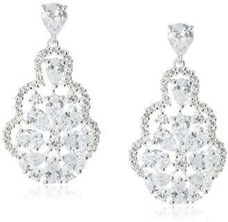 Nina Rennie Glamorous Decorative Pear-Shape Pendant Drop Earrings