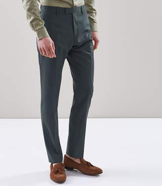 Reiss SMUDGE T SLIM FIT TROUSERS Teal