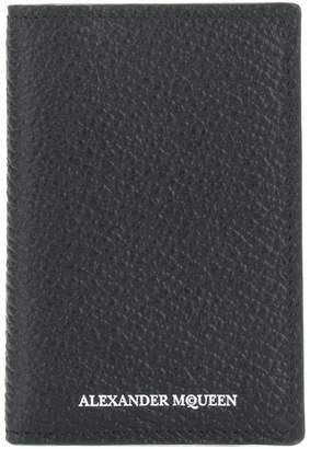 Alexander McQueen grained card holder