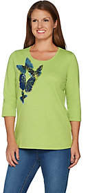 Factory Quacker Butterfly Party Sequin and BeadT-shirt