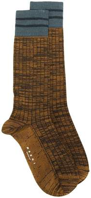 Marni marl socks with stripes