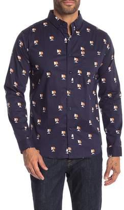 LOFT 604 Owl Print Regular Fit Shirt