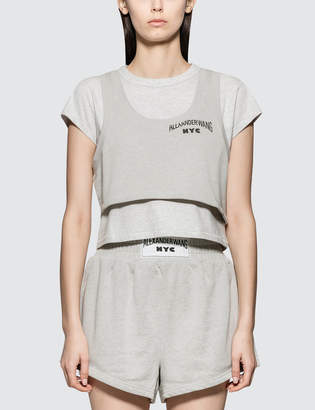 Alexander Wang Alexander Wang.T Lightweight Terry Bi-layer Short Sleeve Crop Top