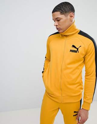 Puma T7 Vintage Track Jacket In Yellow 57498548