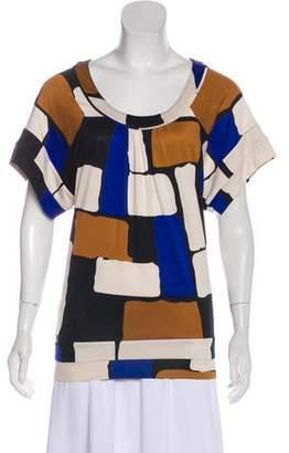 Diane von Furstenberg Pulsa Short Sleeve Top