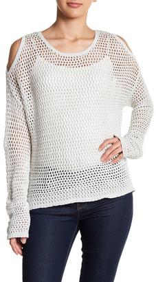 John & Jenn Cold-Shoulder Crochet Pullover $125 thestylecure.com