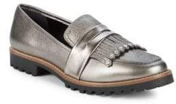 Bernardo Kilted Leather Loafers