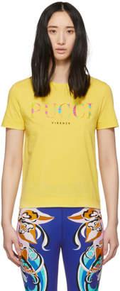 Emilio Pucci Yellow Logo T-Shirt