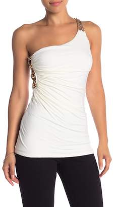 Sky Daniella One-Shoulder Chain Top