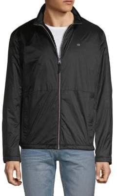 Calvin Klein Logo Faux Fur-Lined Jacket