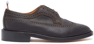 Thom Browne Longwing brushed-leather brogues