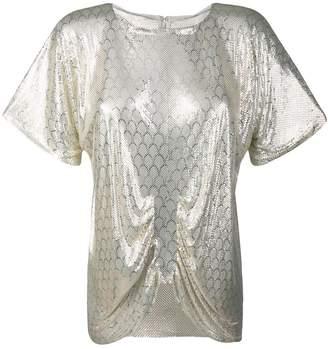 Whiting & Davis Katheleys Vintage 1970's Disco blouse