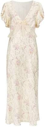 LoveShackFancy Love Shack Fancy Lillian Silk Maxi Dress