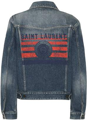 Saint Laurent Printed denim jacket