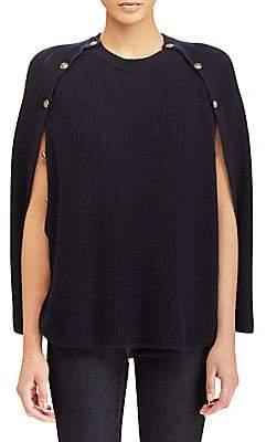 Ralph Lauren Women s Cashmere Button-Detail Cape 4d095a586