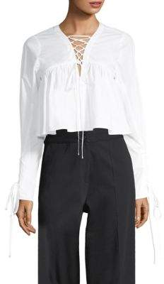 Robert Rodriguez Lace-Up Top
