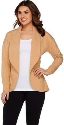 Halston H By H by Shawl Collar Open Front French Terry Jacket