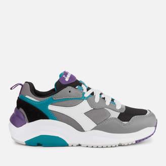 Diadora Whizz Run Trainers - Charcoal Grey/White/Harbor Blue